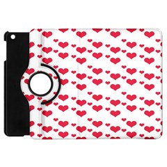 Heart Love Pink Valentine Day Apple Ipad Mini Flip 360 Case by AnjaniArt