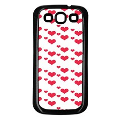 Heart Love Pink Valentine Day Samsung Galaxy S3 Back Case (black) by AnjaniArt