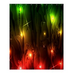 Fractal Manipulations Raw Flower Colored Shower Curtain 60  X 72  (medium)  by AnjaniArt