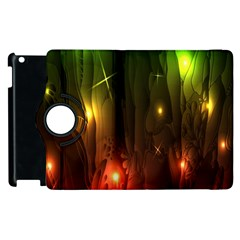 Fractal Manipulations Raw Flower Colored Apple Ipad 3/4 Flip 360 Case by AnjaniArt