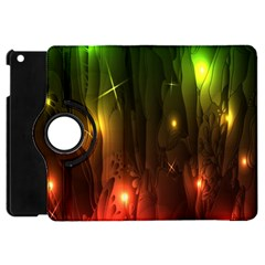 Fractal Manipulations Raw Flower Colored Apple Ipad Mini Flip 360 Case by AnjaniArt