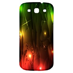 Fractal Manipulations Raw Flower Colored Samsung Galaxy S3 S Iii Classic Hardshell Back Case by AnjaniArt