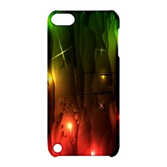 Fractal Manipulations Raw Flower Colored Apple Ipod Touch 5 Hardshell Case With Stand by AnjaniArt