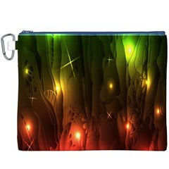 Fractal Manipulations Raw Flower Colored Canvas Cosmetic Bag (xxxl) by AnjaniArt