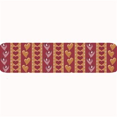 Heart Love Valentine Day Large Bar Mats by AnjaniArt