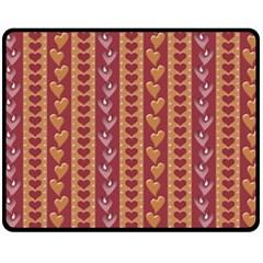 Heart Love Valentine Day Fleece Blanket (medium)  by AnjaniArt