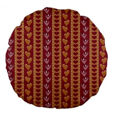 Heart Love Valentine Day Large 18  Premium Flano Round Cushions by AnjaniArt