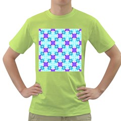 Background Colour Flower Rainbow Green T Shirt by AnjaniArt