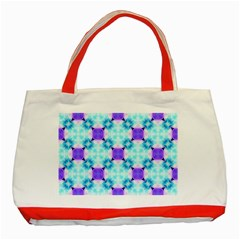 Background Colour Flower Rainbow Classic Tote Bag (red) by AnjaniArt