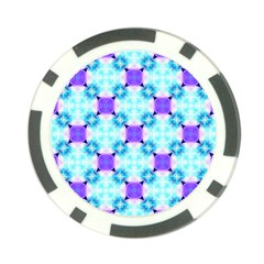 Background Colour Flower Rainbow Poker Chip Card Guard by AnjaniArt