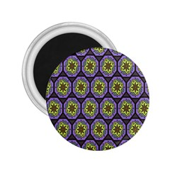 Background Colour Star Flower Purple Yellow 2 25  Magnets by AnjaniArt
