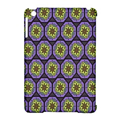 Background Colour Star Flower Purple Yellow Apple Ipad Mini Hardshell Case (compatible With Smart Cover) by AnjaniArt