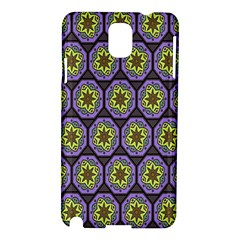 Background Colour Star Flower Purple Yellow Samsung Galaxy Note 3 N9005 Hardshell Case by AnjaniArt