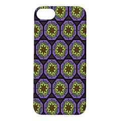 Background Colour Star Flower Purple Yellow Apple Iphone 5s/ Se Hardshell Case by AnjaniArt