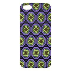 Background Colour Star Flower Purple Yellow Iphone 5s/ Se Premium Hardshell Case by AnjaniArt