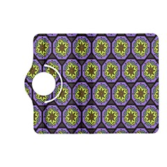 Background Colour Star Flower Purple Yellow Kindle Fire Hd (2013) Flip 360 Case by AnjaniArt
