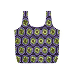 Background Colour Star Flower Purple Yellow Full Print Recycle Bags (s)  by AnjaniArt