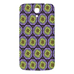 Background Colour Star Flower Purple Yellow Samsung Galaxy Mega I9200 Hardshell Back Case by AnjaniArt