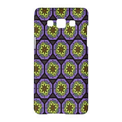 Background Colour Star Flower Purple Yellow Samsung Galaxy A5 Hardshell Case  by AnjaniArt