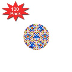 Background Colour Circle Rainbow 1  Mini Buttons (100 Pack)  by AnjaniArt