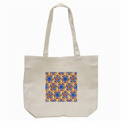 Background Colour Circle Rainbow Tote Bag (cream) by AnjaniArt