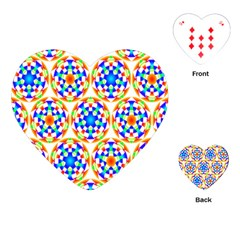 Background Colour Circle Rainbow Playing Cards (heart)  by AnjaniArt