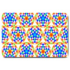 Background Colour Circle Rainbow Large Doormat  by AnjaniArt