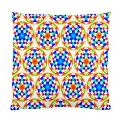Background Colour Circle Rainbow Standard Cushion Case (two Sides) by AnjaniArt