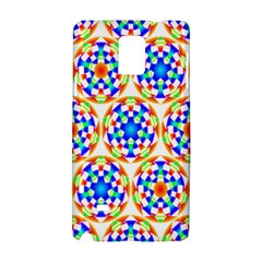 Background Colour Circle Rainbow Samsung Galaxy Note 4 Hardshell Case by AnjaniArt