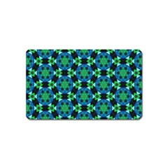 Background Star Colour Green Blue Magnet (name Card)