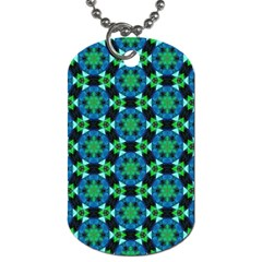 Background Star Colour Green Blue Dog Tag (two Sides) by AnjaniArt