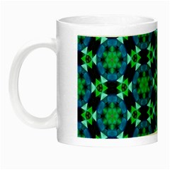 Background Star Colour Green Blue Night Luminous Mugs by AnjaniArt