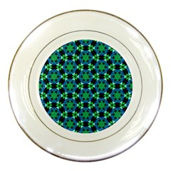 Background Star Colour Green Blue Porcelain Plates by AnjaniArt