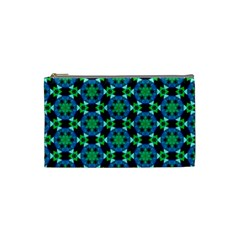 Background Star Colour Green Blue Cosmetic Bag (small)  by AnjaniArt