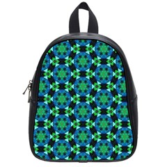 Background Star Colour Green Blue School Bags (small)  by AnjaniArt