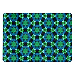 Background Star Colour Green Blue Samsung Galaxy Tab 10 1  P7500 Flip Case by AnjaniArt