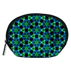 Background Star Colour Green Blue Accessory Pouches (medium)  by AnjaniArt