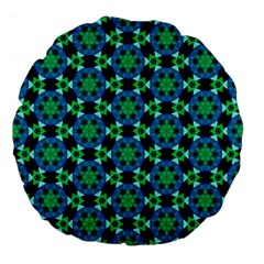 Background Star Colour Green Blue Large 18  Premium Flano Round Cushions by AnjaniArt