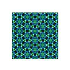 Background Star Colour Green Blue Satin Bandana Scarf by AnjaniArt