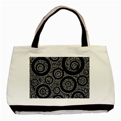 Selected Figures From The Paper Circle Black Hole Basic Tote Bag (two Sides) by AnjaniArt