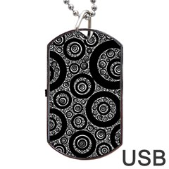 Selected Figures From The Paper Circle Black Hole Dog Tag Usb Flash (two Sides) by AnjaniArt