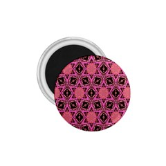 Background Colour Star Pink Flower 1 75  Magnets by AnjaniArt