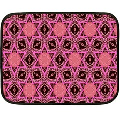 Background Colour Star Pink Flower Double Sided Fleece Blanket (mini)  by AnjaniArt