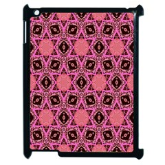 Background Colour Star Pink Flower Apple Ipad 2 Case (black) by AnjaniArt