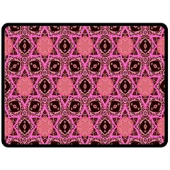 Background Colour Star Pink Flower Double Sided Fleece Blanket (large)  by AnjaniArt