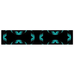 Background Wave Blue Flano Scarf (small) by AnjaniArt
