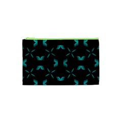 Background Wave Blue Cosmetic Bag (xs) by AnjaniArt