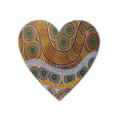 Batik Heart Magnet by AnjaniArt