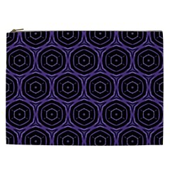 Background Colour Purple Circle Cosmetic Bag (xxl)  by AnjaniArt