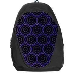Background Colour Purple Circle Backpack Bag by AnjaniArt